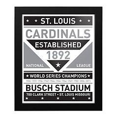 St. Louis Cardinals Black & White Framed Wall Art