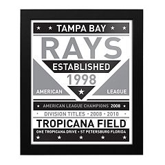 Tampa Bay Rays Black & White Framed Wall Art