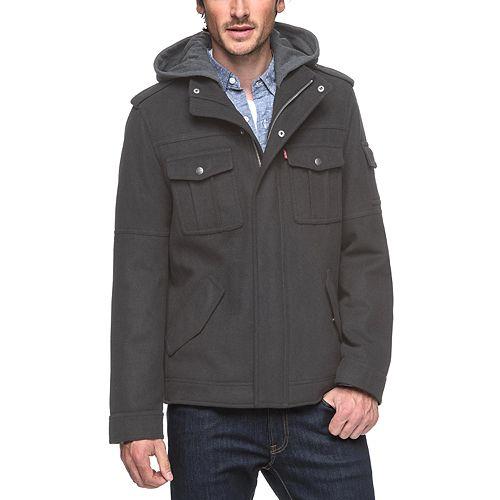 Big & Tall Levi's® Wool Hooded Trucker Jacket