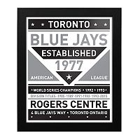 Toronto Blue Jays Black & White Framed Wall Art