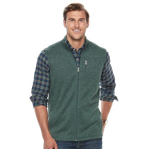 Big & Tall Croft & Barrow® Classic-Fit Outdoor Fleece Vest