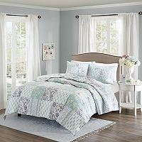 Madison Park 3-piece Paolina Floral Coverlet Set