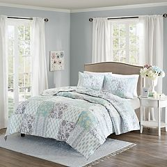 Madison Park 3 pc Paolina Floral Coverlet Set