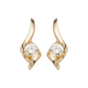 Sirena Collection 14k Gold 1/4-ct. T.W. Diamond Drop Earrings