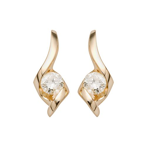 Sirena Collection 14k Gold 1/4-ct. T.W. Diamond Drop Earrings