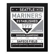 Seattle Mariners Black & White Framed Wall Art