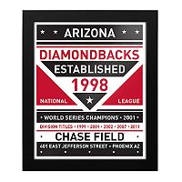 Arizona Diamondbacks Dual Tone Framed Wall Art