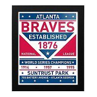 Atlanta Braves Dual Tone Framed Wall Art