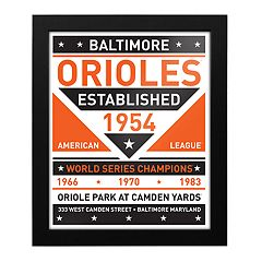 Baltimore Orioles Dual Tone Framed Wall Art