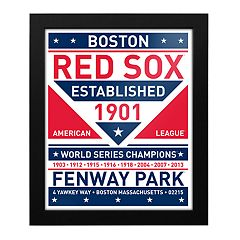 Boston Red Sox Dual Tone Framed Wall Art