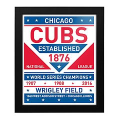 Chicago Cubs Dual Tone Framed Wall Art