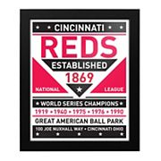 Cincinnati Reds Dual Tone Framed Wall Art