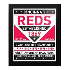 Cincinnati Reds Dual Tone Framed Wall Art