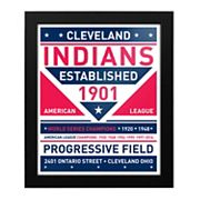 Cleveland Indians Dual Tone Framed Wall Art