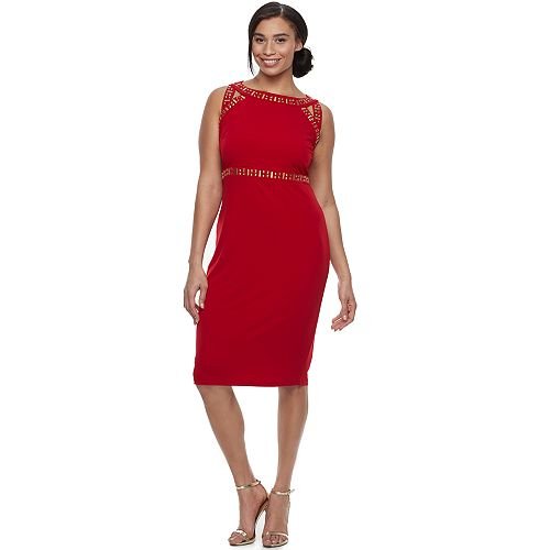 Plus Size Chaya Embellished Sheath Dress