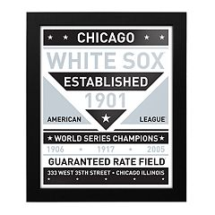 Chicago White Sox Dual Tone Framed Wall Art