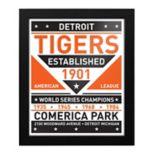 Detroit Tigers Dual Tone Framed Wall Art