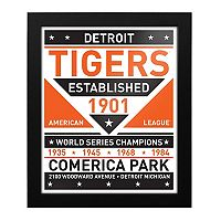 Detroit Tigers Dual Tone Framed Wall Art