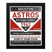 Houston Astros Dual Tone Framed Wall Art