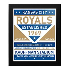 Kansas City Royals Dual Tone Framed Wall Art