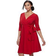 Plus Size Chaya Faux-Wrap Dress