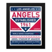 Los Angeles Angels of Anaheim Dual Tone Framed Wall Art