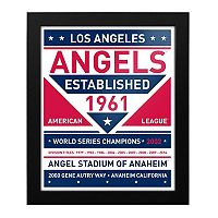 Los Angeles Angels of Anaheim Dual Tone Framed Wall Art