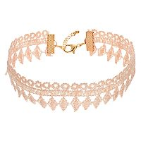 Pink Lace Choker Necklace