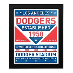 Los Angeles Dodgers Dual Tone Framed Wall Art
