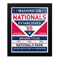 Washington Nationals Dual Tone Framed Wall Art