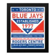 Toronto Blue Jays Dual Tone Framed Wall Art
