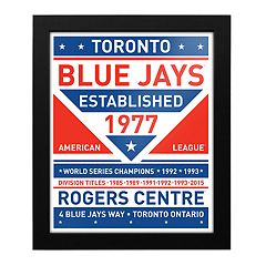 Toronto Blue Jays Dual Tone Framed Wall Art
