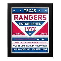 Texas Rangers Dual Tone Framed Wall Art