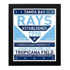 Tampa Bay Rays Dual Tone Framed Wall Art