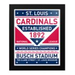 St. Louis Cardinals Dual Tone Framed Wall Art