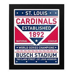 St. Louis Cardinals Dual Tone Framed Wall Art