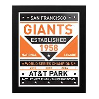 San Francisco Giants Dual Tone Framed Wall Art