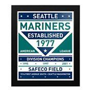 Seattle Mariners Dual Tone Framed Wall Art
