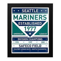 Seattle Mariners Dual Tone Framed Wall Art