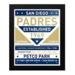 San Diego Padres Dual Tone Framed Wall Art