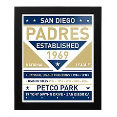San Diego Padres Dual Tone Framed Wall Art