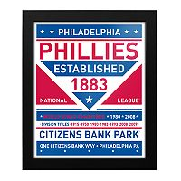 Philadelphia Phillies Dual Tone Framed Wall Art