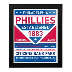 Philadelphia Phillies Dual Tone Framed Wall Art