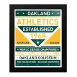 Oakland Athletics Dual Tone Framed Wall Art