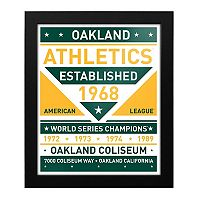 Oakland Athletics Dual Tone Framed Wall Art