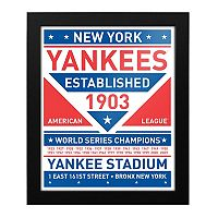 New York Yankees Dual Tone Framed Wall Art