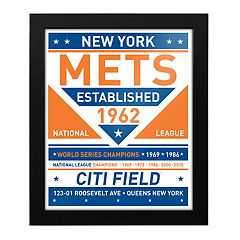 New York Mets Dual Tone Framed Wall Art