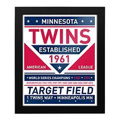 Minnesota Twins Dual Tone Framed Wall Art