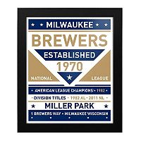 Milwaukee Brewers Dual Tone Framed Wall Art