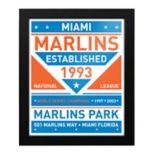 Miami Marlins Dual Tone Framed Wall Art